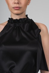 VESNA W SILK CHARLOTTE TOP BLACK
