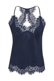 GOLDHAWK JENNI SILK LACE CROPPED CAMI NAVY