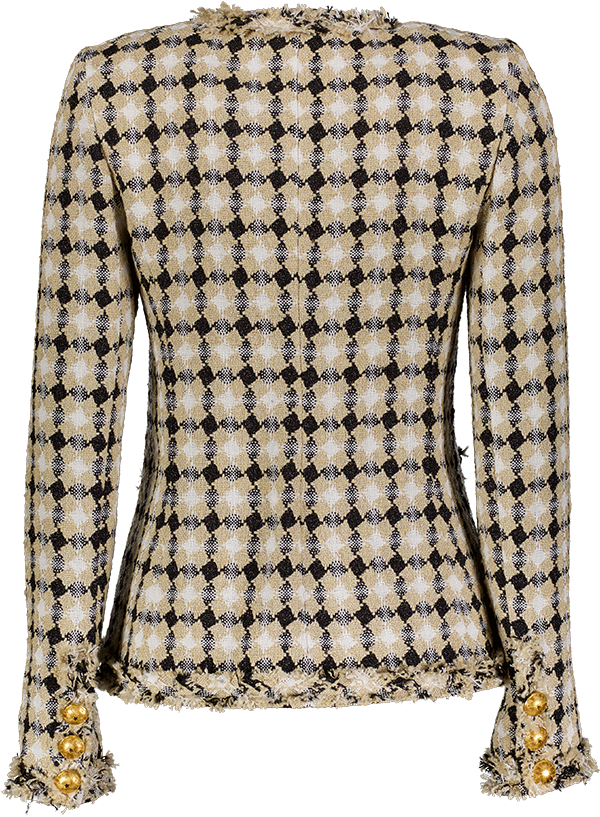 tweed check back _Front copsmally