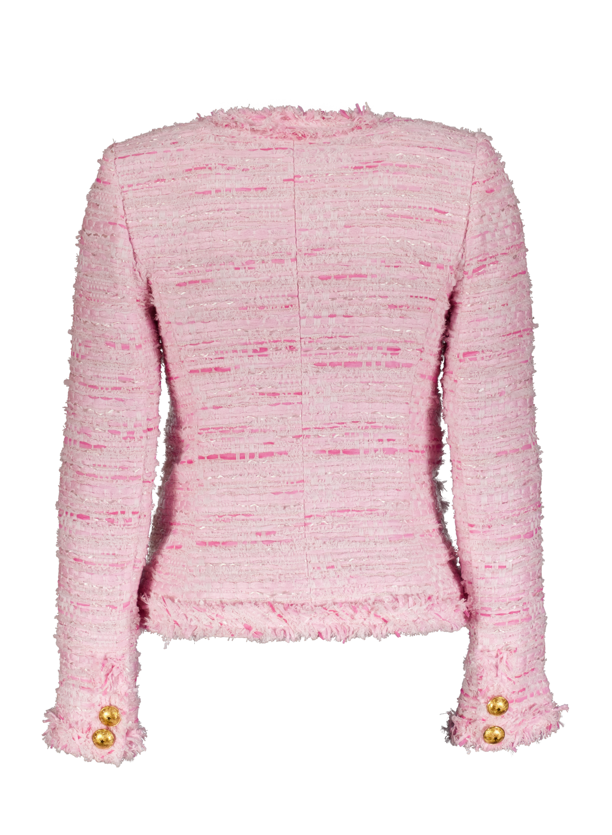 pink tweed jkt back _Front