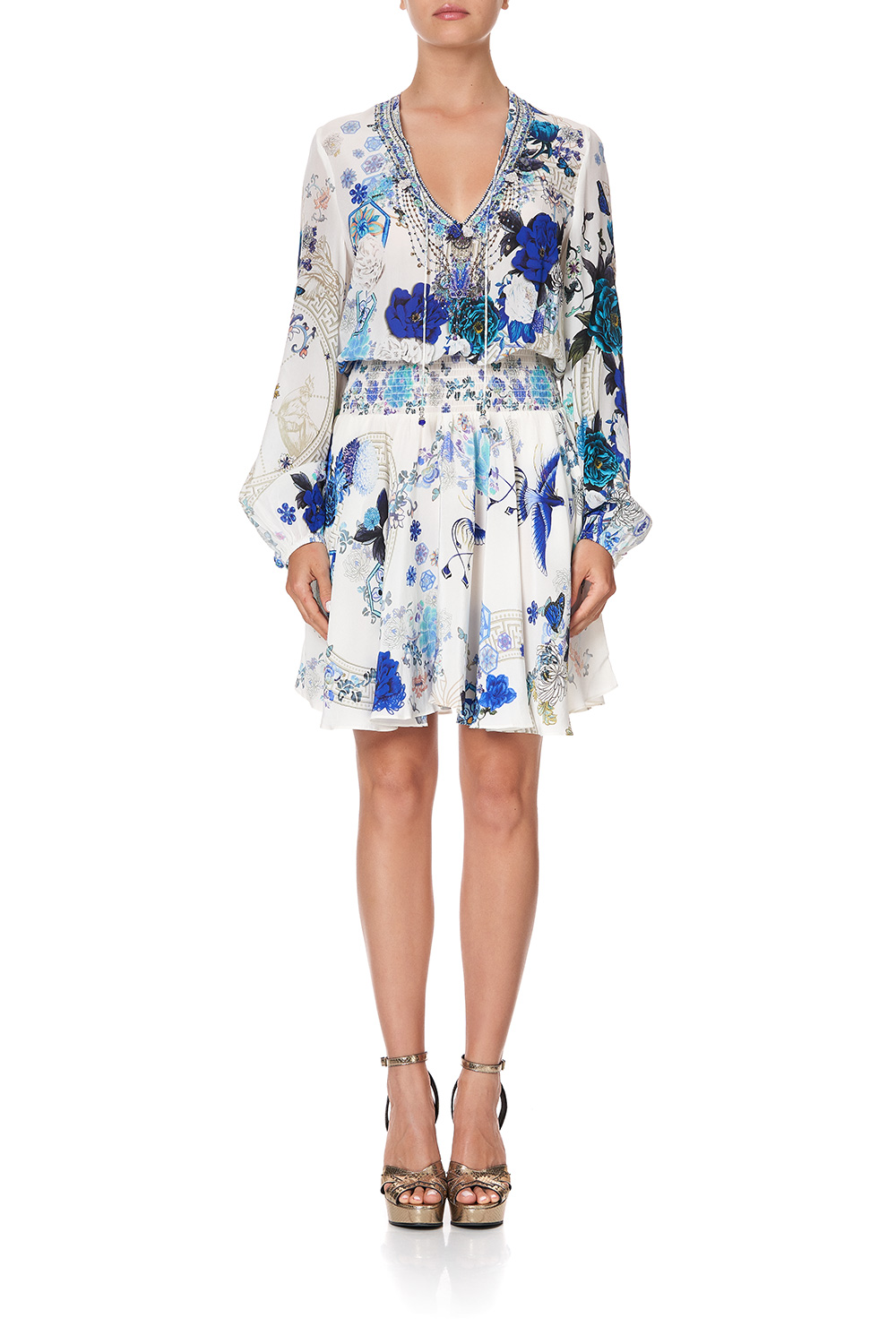 camilla_shirred_relaxed_short_dress_white_side_of_the_moon_4