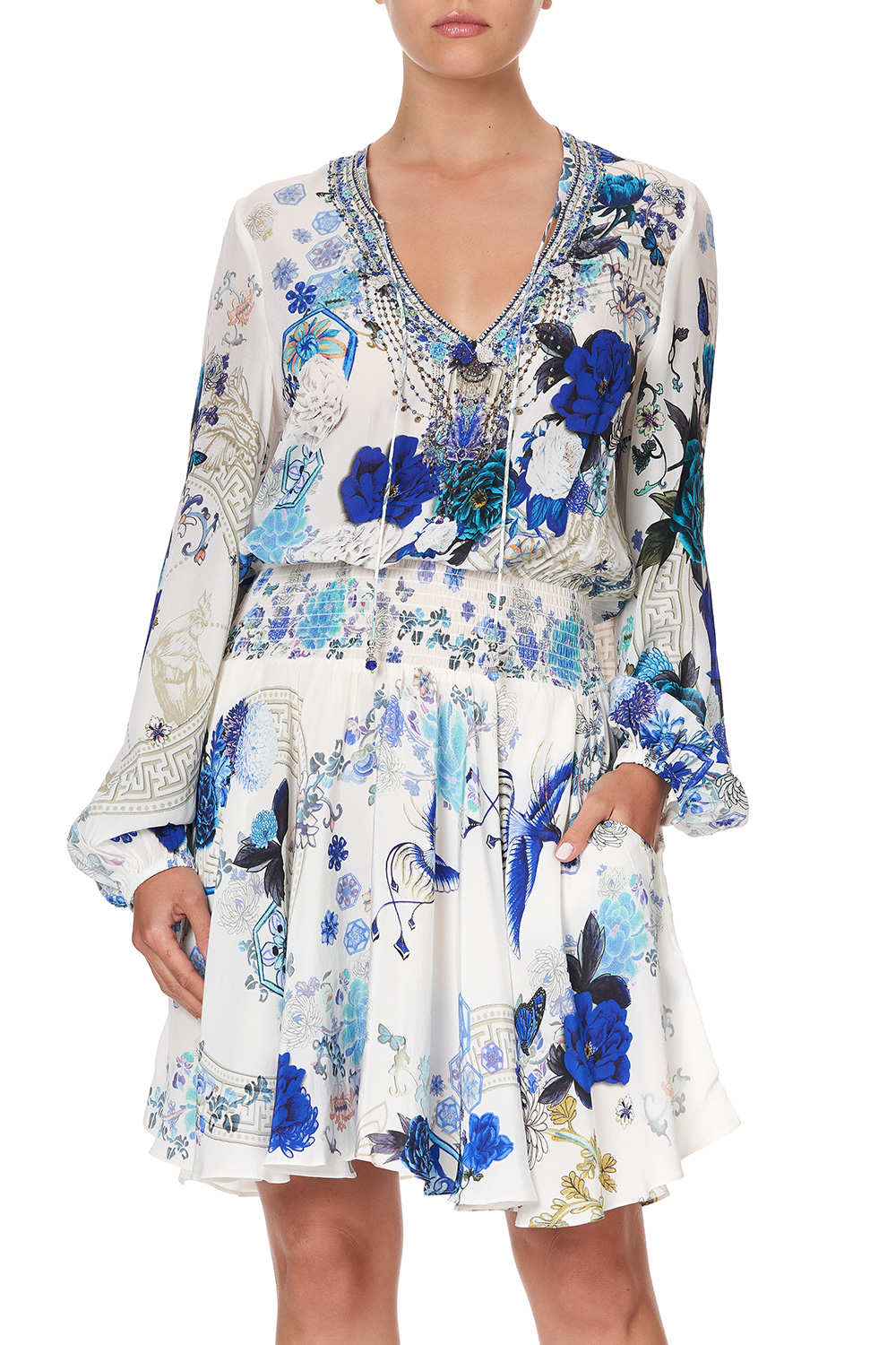 camilla_shirred_relaxed_short_dress_white_side_of_the_moon_7