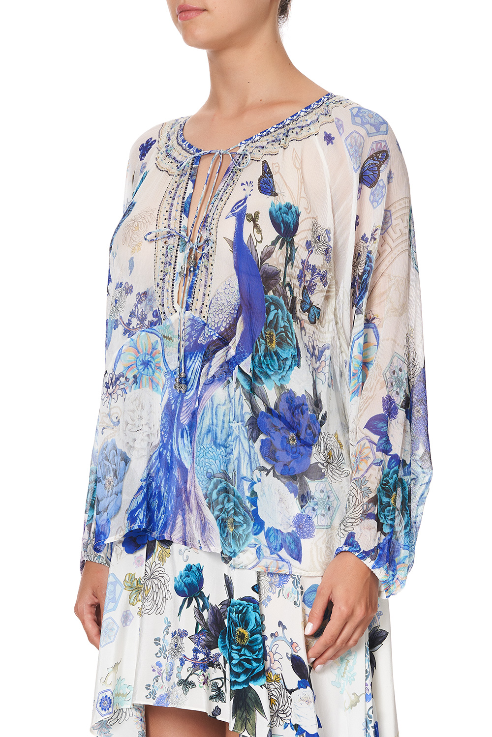 camilla_tie_front_high_low_hem_blouse_white_side_of_the_moon_5
