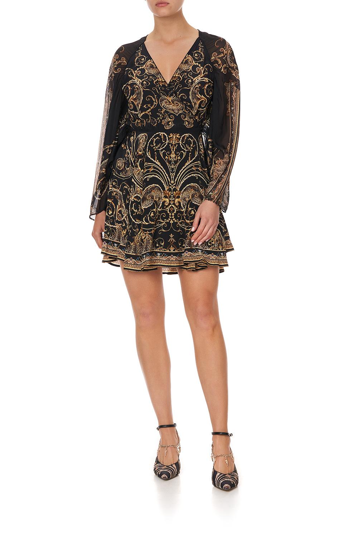 camilla_short_dress_with_draped_sleeve_studio_54_1