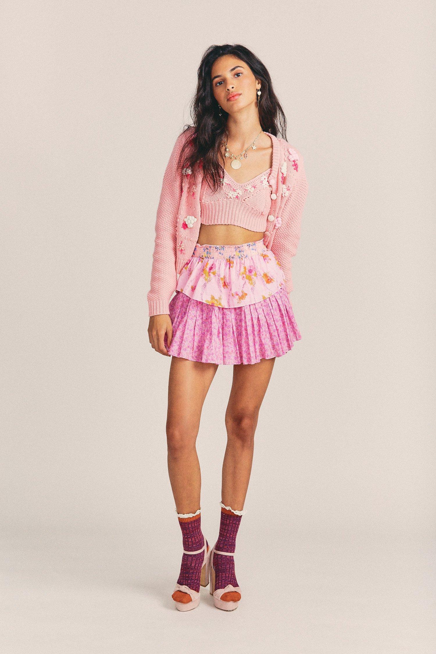 Ruffle-Mini-Skirt-Exploded-Pink-1