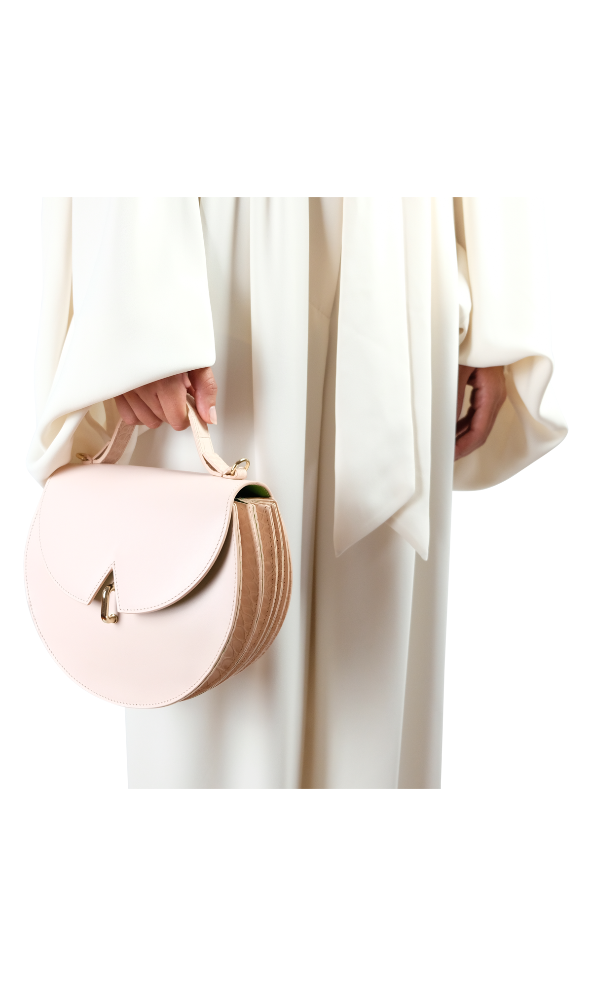 B.038_ Powder Pink Leather and Croc_6