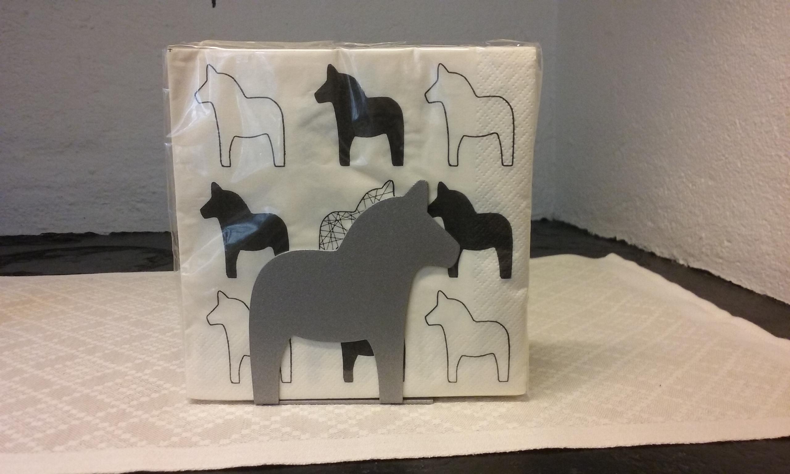 servettställ-dalahäst