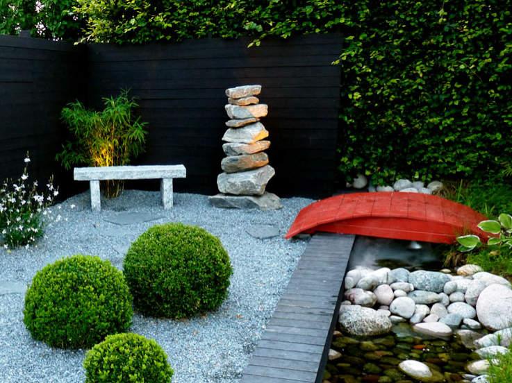 En idéträdgård från Enköping med japansk stil