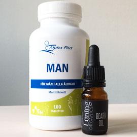 Skäggolja + Man Vital