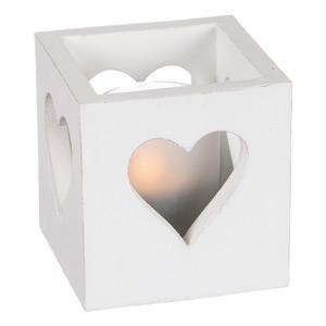 Lykta med hjärta - 8x8 cm