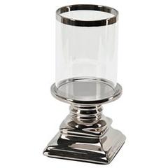 Ljusstake med glas