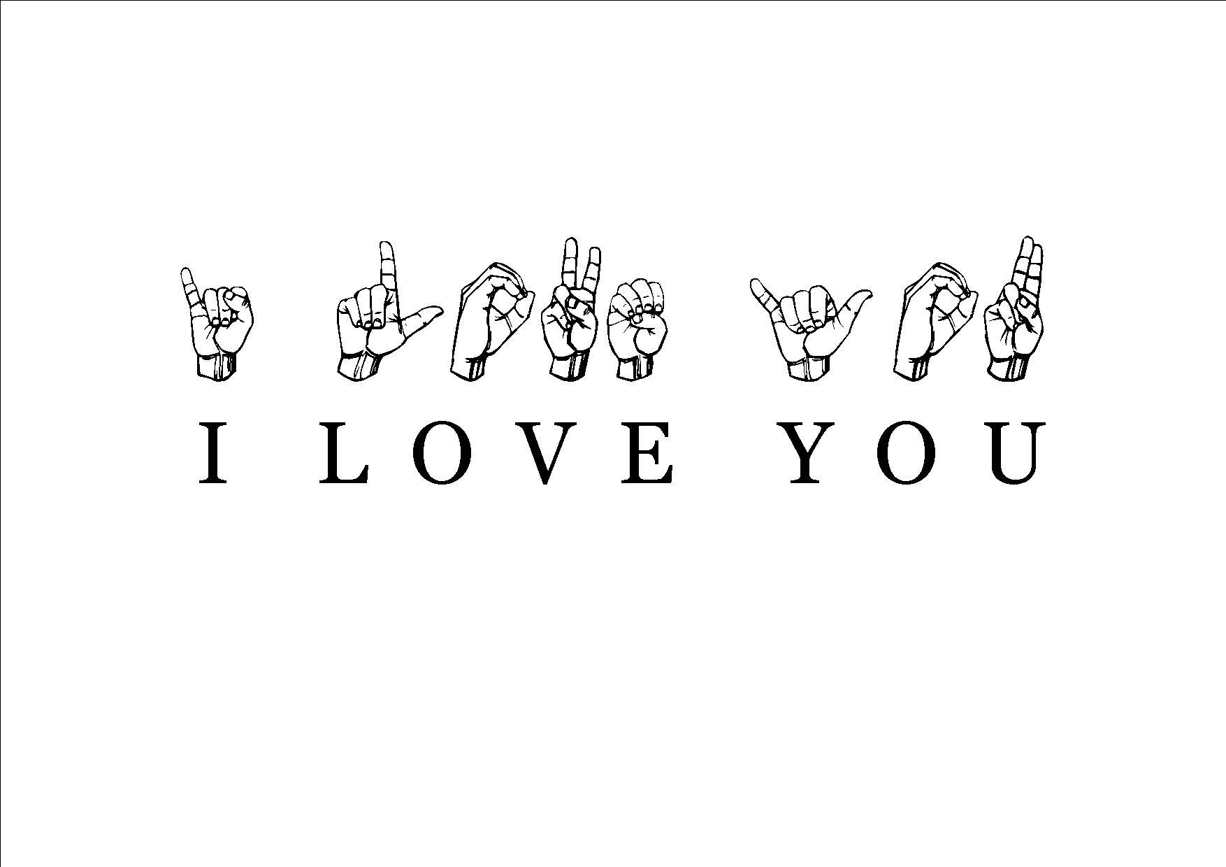I love you, teckenspråk