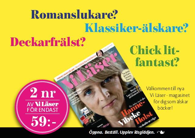 Reklam för tidningen Vi läser. Copytexter av oss på Ristretto Stockholm.