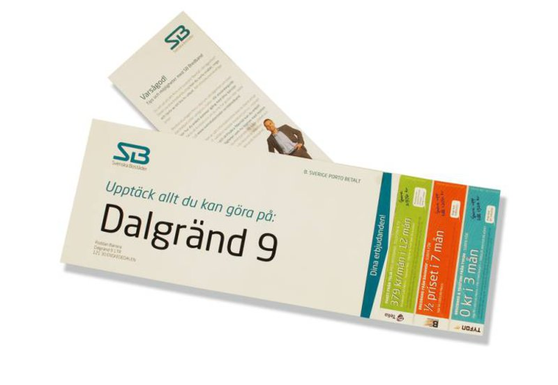 Under flera år skrev vi reklamtexterna till Svenska Bostäders bredbandssatsning. Här ser du ett nyhetsbrev med fina erbjudanden till hyresgäster.