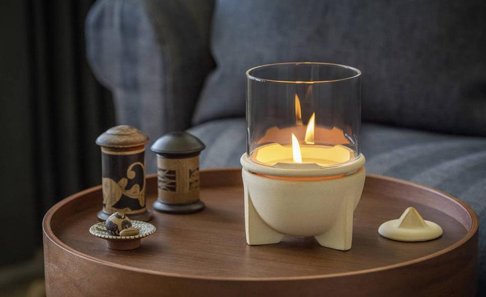 Indoor,waxburner_ceranatur, med glas, brunnsboden