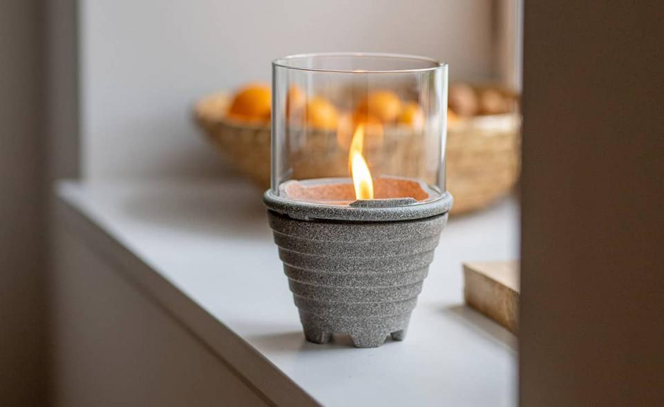 Indoor_waxburner_Graniciumglas, brunnsboden3