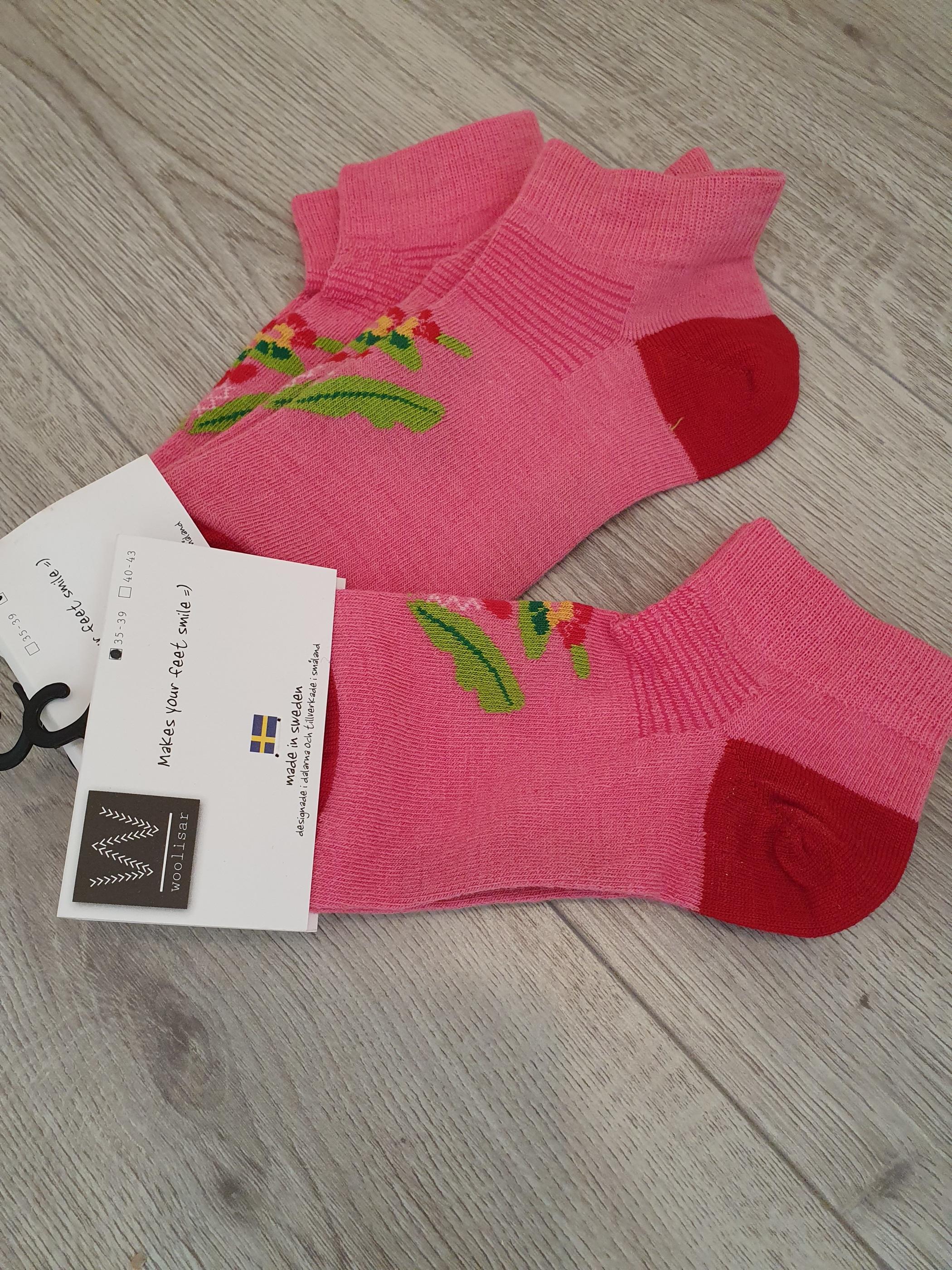 Strumpor Woolisar rosa
