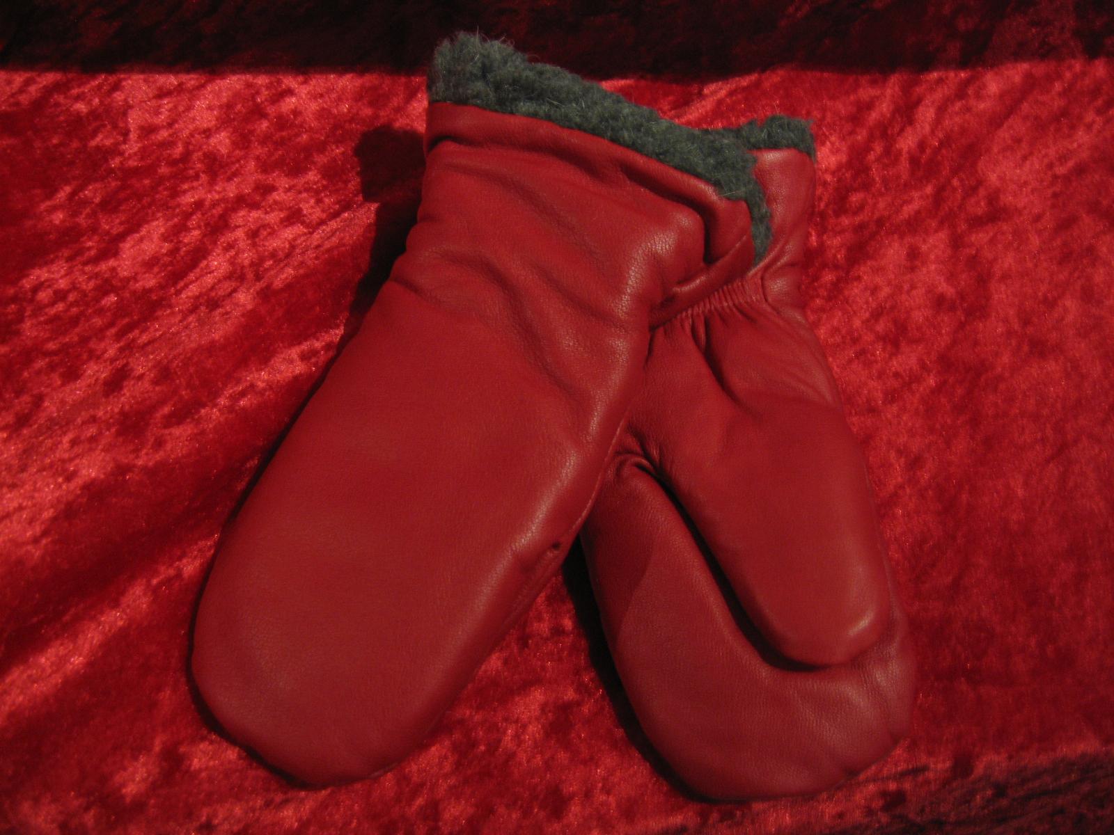 Barnhandske 4 år röd