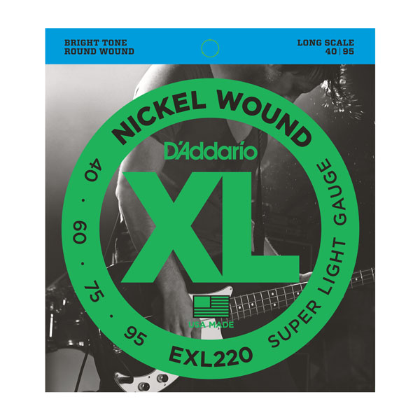 D'Addario EXL220 Super Light Long Scale 40-95