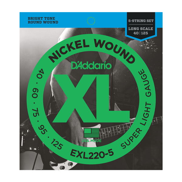 D'Addario EXL220-5 Super Light Long Scale 40-125