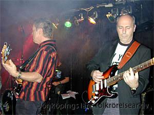 Nya Lane på scen. TIll vänster Staffan Schön och till höger Peter Albertsson. Foto: Lucas Söderberg.