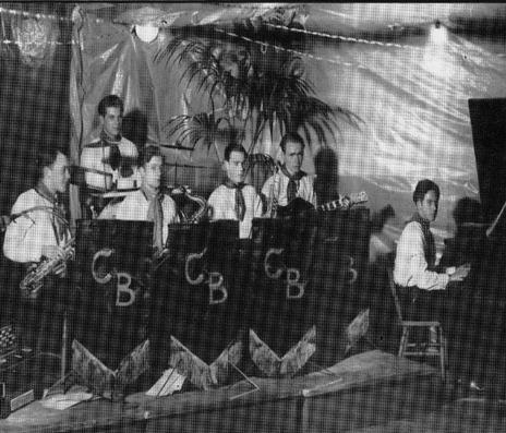 Clambakes i Läroverkets gymnastiksal 1938. Foto från Conny Rich.