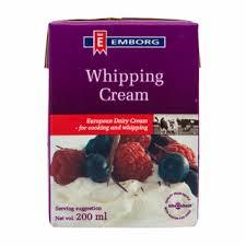 Whipping cream emborg - Whipping cream emborg