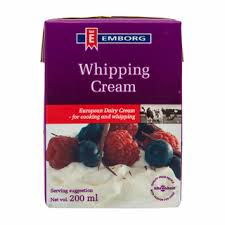 Whipping cream Emborg - Whipping cream 200 ml