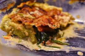 Lasagne salmon spinach - Lasagna with spinach