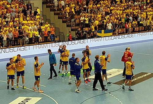 Sverige klart för handboll-VM efter seger i kvalmatchen mot Nederländerna. Foto: Roger Lagergren