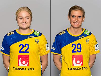 Hanna Blomstrand (tv) och Jenny Alm.