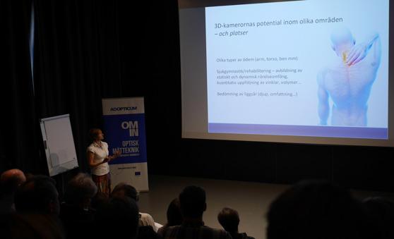 Åsa Holmner från Glesbygdsmedicinskt centrum ger en inblick i potentialen för 3D-kamerornas potential inom olika områden i hälso- och sjukvårdstillämpningar.