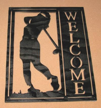 Välkomstskylt GolfareKvinligIMG_1621