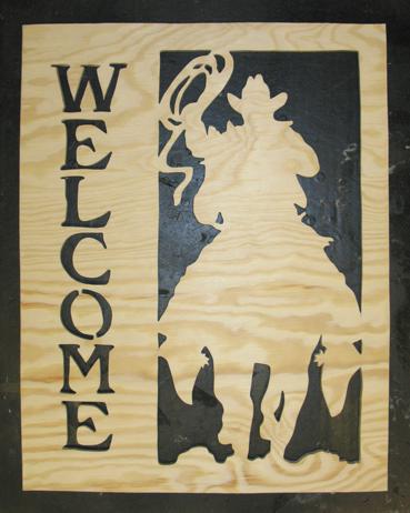 Welcome Ridande cowboy