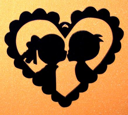 Pojke flicka i hjärta