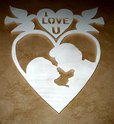 Par i hjärta 30 cm