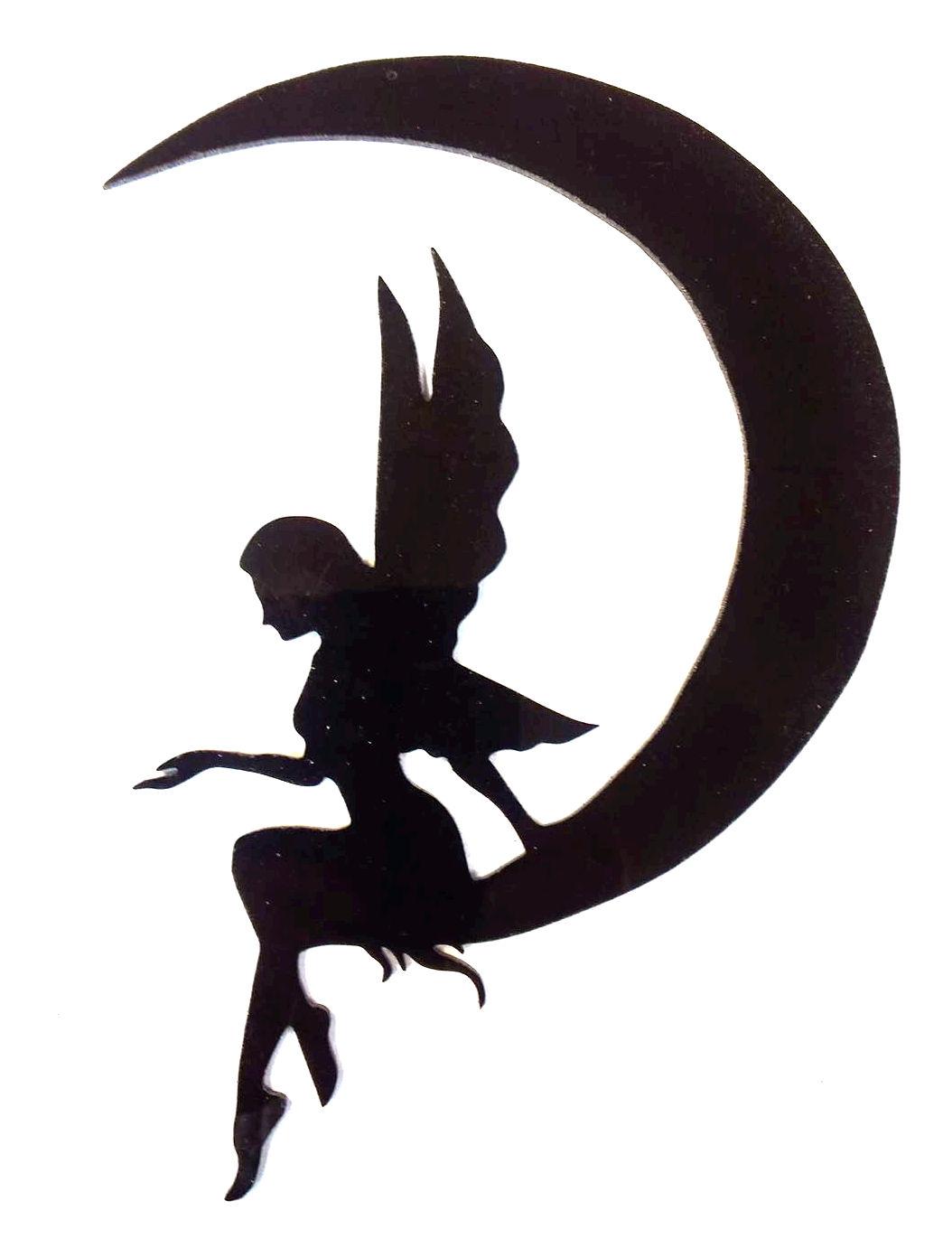 ängel på måne 20 cm