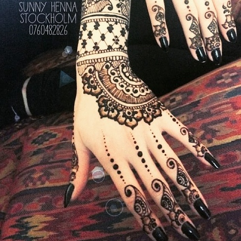 English Hennatatuering I Stockholm Sunny Henna Artist Stockholm