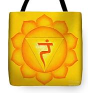 Väska med motiv solarplexus