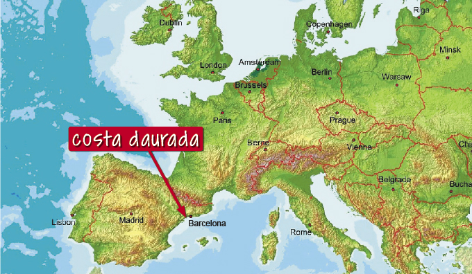 Map Of Spain Reus.The Region Costa Daurada Cycling Training Camps In Spain