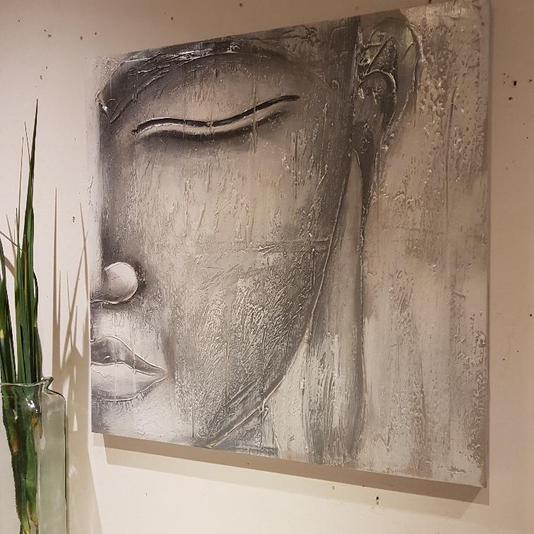 buddha half face