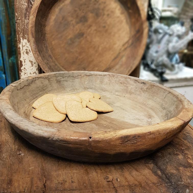 handgjorda träskålar