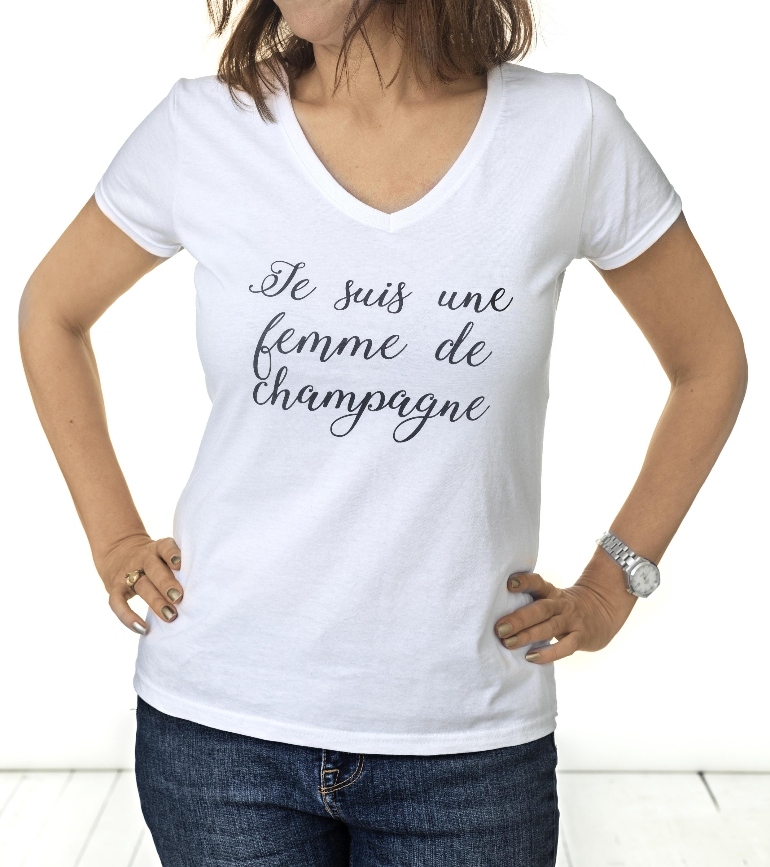 Vit champagne t-shirt