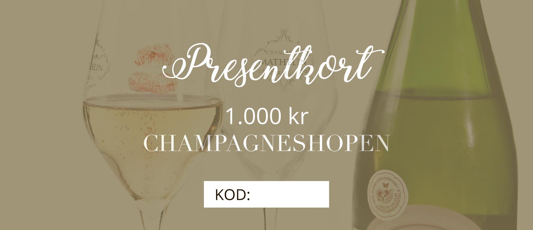 presentkort Champagneshopen