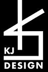 KJ  logotype sv vit liten