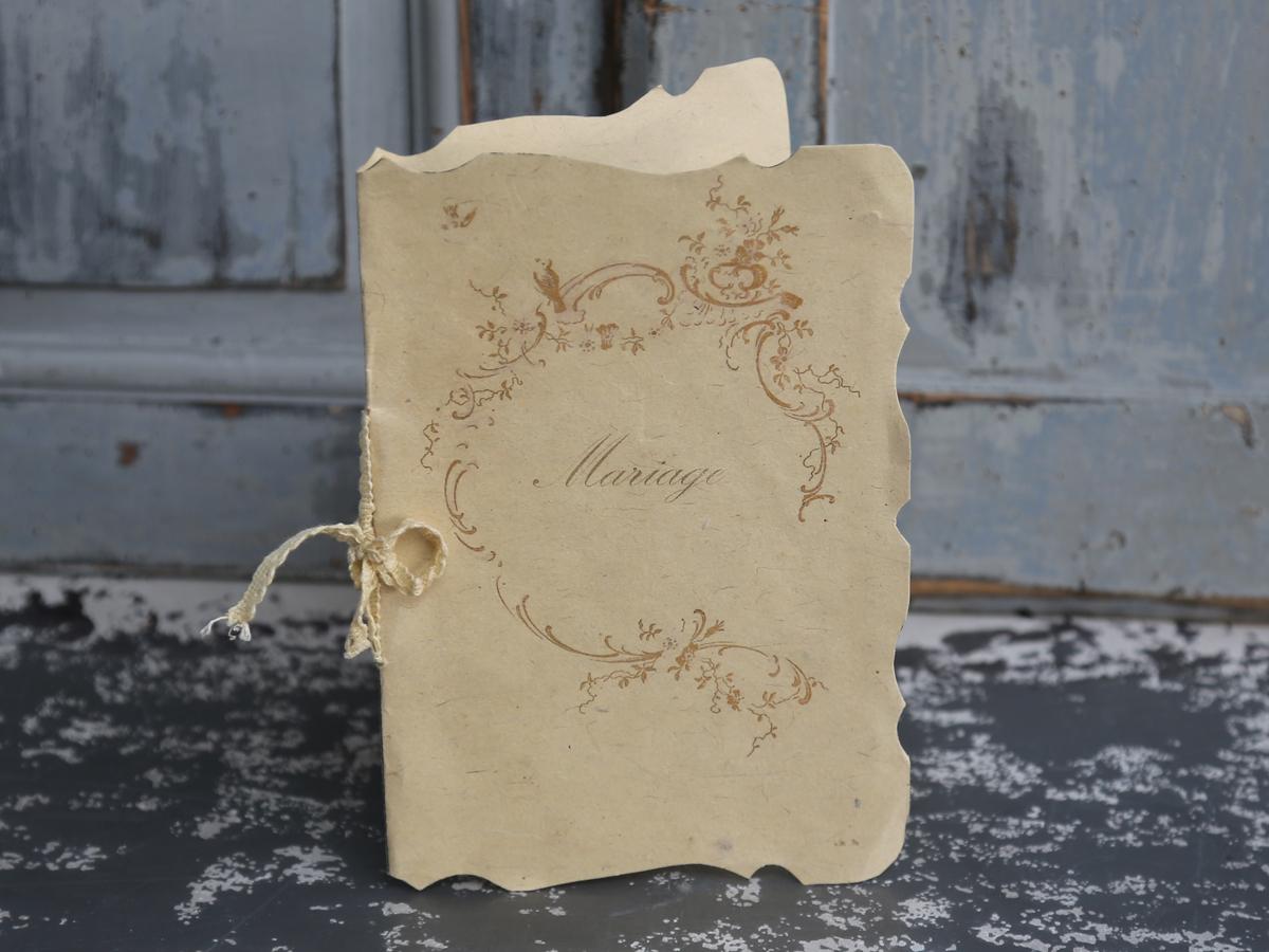 Bröllopskort Mariage