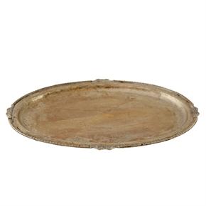 Ovalt fat antik silver