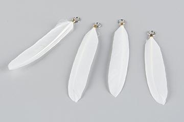 fjäder vit 10cm