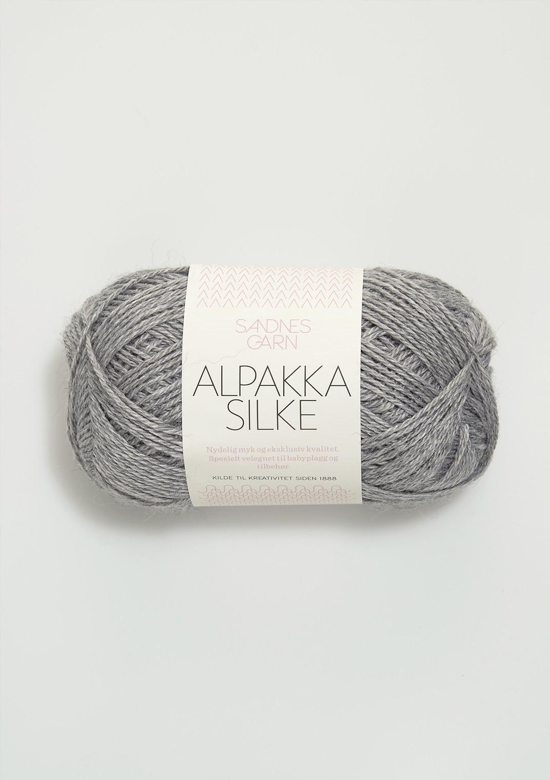 Sandnes alpakka silke gråmelerad 1042
