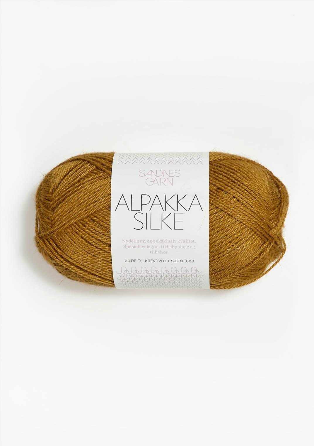 Sandnes alpakka silke ockra 2135